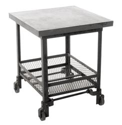 Urban Mercantile Galvanized Steel Industrial Side Table