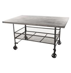 Urban Mercantile Galvanized Steel Industrial Work Station | BOT-INDJE076
