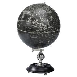 Nathaniel Modern Classic Vaugondy 1745 Black Globe Model