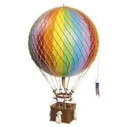 George Modern Classic Rainbow Royal Hot Air Balloon Miniature