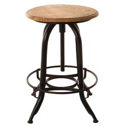 Architect's Industrial Wood Iron Counter Bar Swivel Stool | BOT-INDJH052