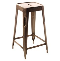 Ironworks Industrial loft Aged Nickel Counter Stool | BOT-INDJE066