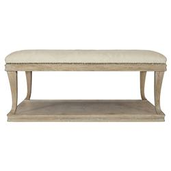 Scarlett Rustic Lodge Button Tufted Upholstered Ottoman Square Table