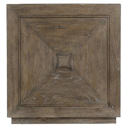 Scarlett Rustic Lodge Plinth Base Dark Wood Cube Side End Table