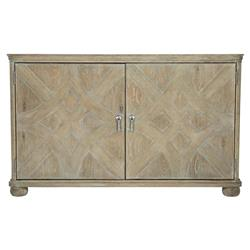 Scarlett Rustic Lodge Fancy Face 2 Door Wood Sideboard