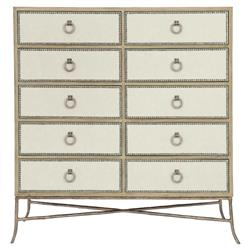 Scarlett Lodge 10 Drawer Performance Fabric Wrapped Tall Tallboy Chest