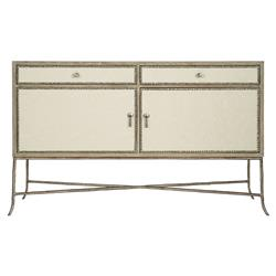 Scarlett Rustic Lodge Performance Fabric Wrapped Iron X Base Sideboard