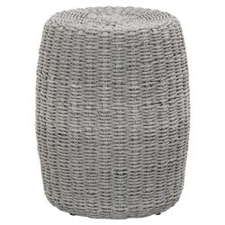 Lorry Modern Classic Woven Grey Cylinder Outdoor Side End Table