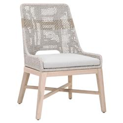 Theodore Coastal Taupe Woven Cushion Solid Teak Outdoor Dining Chair - Set of 2