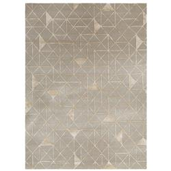 Bethany Modern Classic Grey Patterned Hand Tufted Area Rug - 2' x 3'