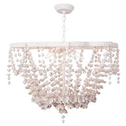 Regina Andrew Vanessa French Country White Floral Resin Chandelier