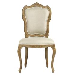 Margaux French Country Carved Shield Back Dining Chair