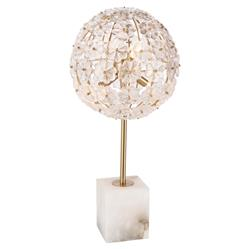 Regina Andrew Charlotte Classic Glass Flowers Gold Alabaster Table Lamp