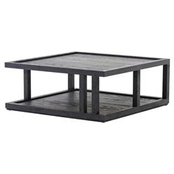 Cally Modern Classic Black Oak Square Coffee Table