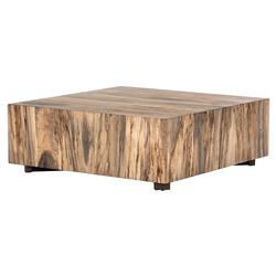 Heidi Modern Classic Spalted Block Primavera Square Block Coffee Table