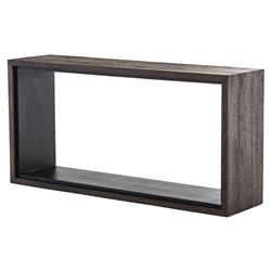 Charlotte Modern Classic Dark Brown Open-Style Narrow Console Table