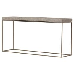 Holly Modern Classic Light Bronze Grey Driftwood Console Table