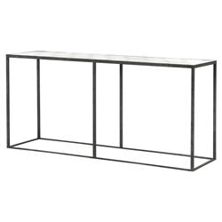 Renee Modern Classic Rustic Black Honeycomb Antique Mirror Top Console Table