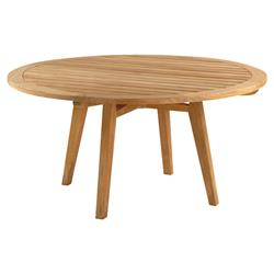 Kingsley Bate Algarve Modern Classic Teak Outdoor Round Dining Table - 52 inch