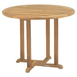 Kingsley Bate Essex Modern Classic Teak Outdoor Round Dining Table - 36 inch