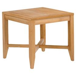 Kingsley Bate Somerset French Country Teak Outdoor Square Side End Table