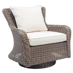 Astounding Kingsley Bate Sag Harbor Coastal Wicker Outdoor Swivel Rocker Lounge Chair Gmtry Best Dining Table And Chair Ideas Images Gmtryco