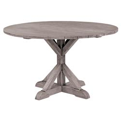 Kingsley Bate Provence French Grey Teak Outdoor Round Dining Table - 50 inch