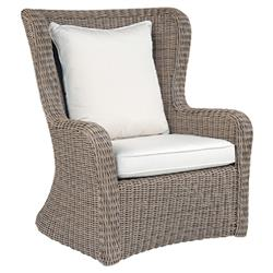 Kingsley Bate Sag Harbor Coastal  Woven Wicker Outdoor High Back Lounge Chair