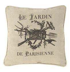 French Country Le Jardin de Parisienne Square Toss Pillow - 18x18