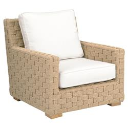 Kingsley Bate St. Barts Coastal Beach Woven Teak Outdoor Lounge Chair