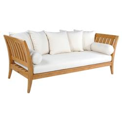Kingsley Bate Ipanema Mid Century Modern White Teak Outdoor Day Bed