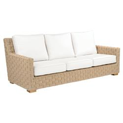 Kingsley Bate St. Barts Coastal Beach Woven Teak Outdoor Sofa