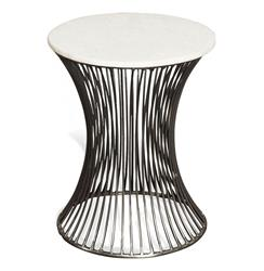 Pinera Circular Marble Side End Table