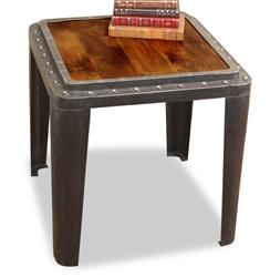 Taloro Industrial Antique Side End Table