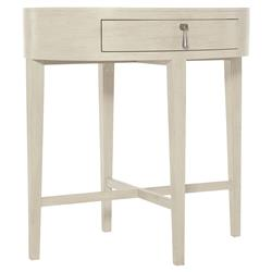 Alice Modern Classic Beige Oval Wood Nightstand