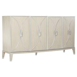 Alice Modern Classic Four Door Curve Front Metal Frame Buffet Sideboard