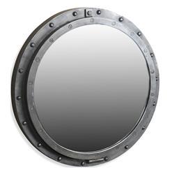Taloro Small Industrial Loft Porthole Style Mirror