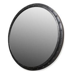 Taloro Large Industrial Loft Porthole Style Mirror