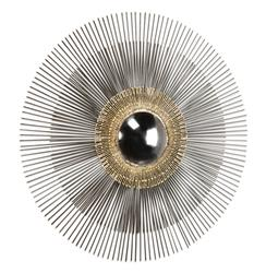 Marlo Hollywood Regency Gold Modern Convex Sunburst Mirror