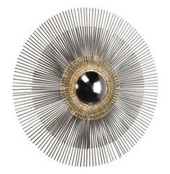 Marlo Hollywood Regency Gold Modern Convex Sunburst Mirror