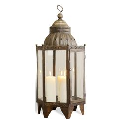 Sellano Rustic Antique Iron Bazaar Hanging Candle Lantern