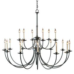 Hubbardton Forge Monette Industrial 18-Arm Large Natural Iron Chandelier