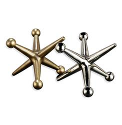 Jayden Giant Jacks Brass  Silver Sculptures- Set of 2