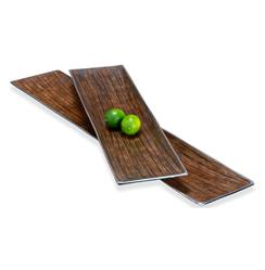 Danica Modern Silver Chestnut Serving Platters- Set of 2