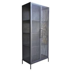 Oly Studio Demian Industrial Loft Perforated Metal Wardrobe