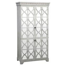 Oly Studio Elisabeth French Country Antiqued White Mirror Armoire