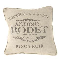 "French Country Farm Stand ""Pinot Noir"" Throw Pillow 