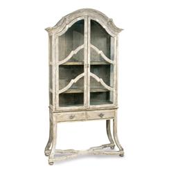 Dauphine French Country Antique Beige Display Case Cabinet | BLISS-CA-4802