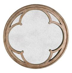 Alhambra French Country Hand Antiqued Circular Wood Mirror | BLISS-MR-2516