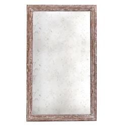 "Marseilles French Farmhouse Antique Taupe Rectangle Mirror - 37""H 